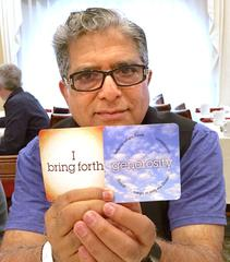 Deepak Chopra creating affirmation